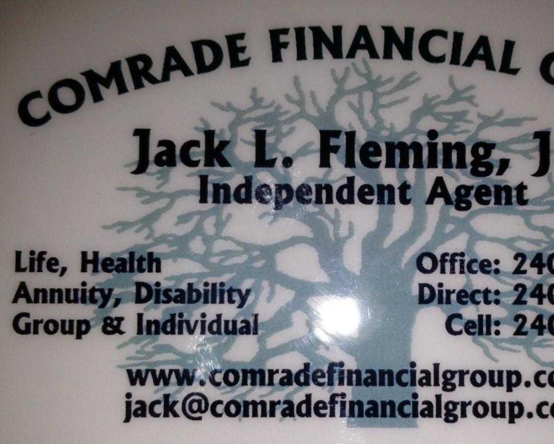 Comradefinancialgroupbusinesscard