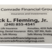 Comrade Financial Group Business Card