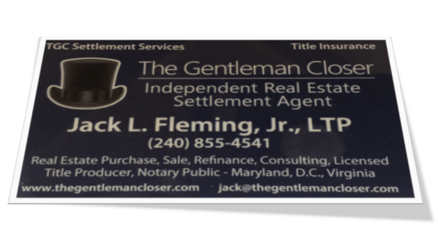 The Gentleman Closer business card